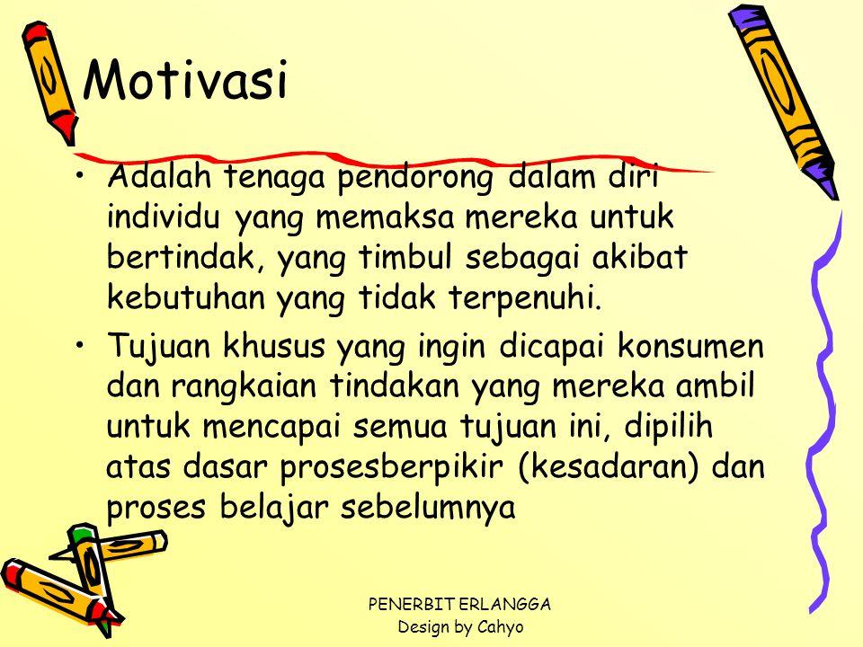 Motivasi Adalah tenaga pendorong dalam diri individu yang memaksa mereka untuk bertindak, yang timbul sebagai akibat kebutuhan yang tidak terpenuhi.