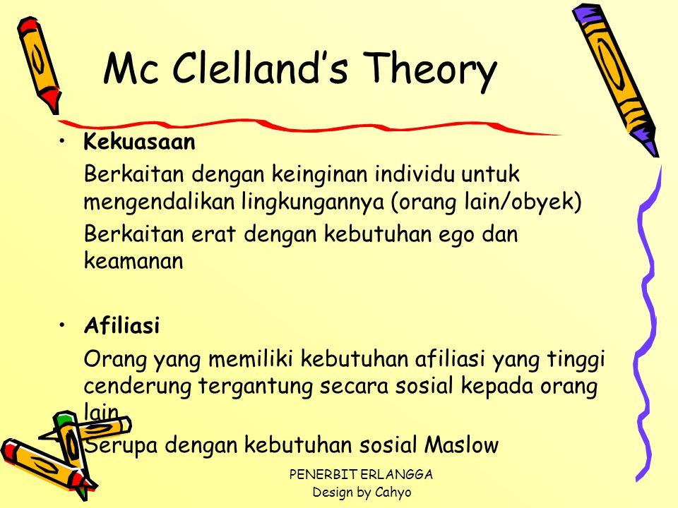 Mc Clelland's Theory Kekuasaan