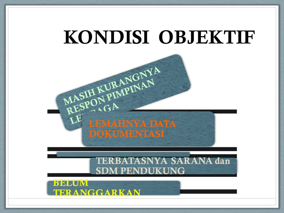 KONDISI OBJEKTIF MASIH KURANGNYA RESPON PIMPINAN LEMBAGA