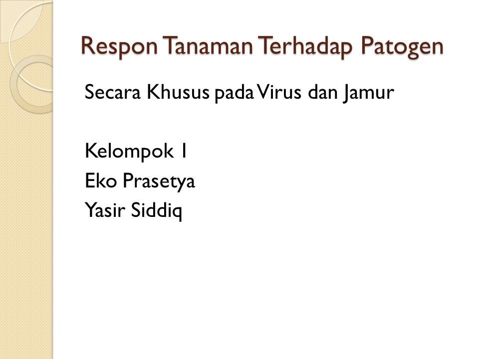 Respon Tanaman Terhadap Patogen