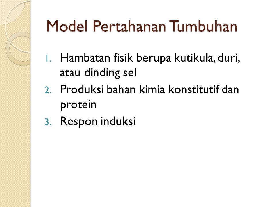 Model Pertahanan Tumbuhan