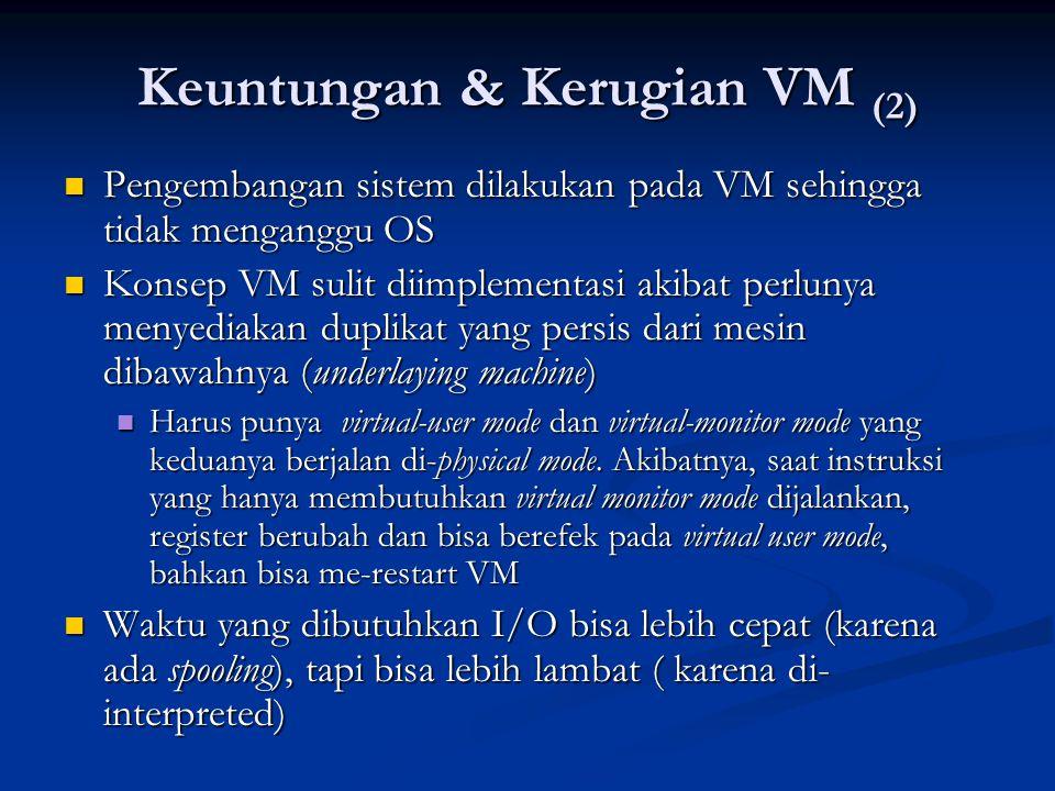 Keuntungan & Kerugian VM (2)
