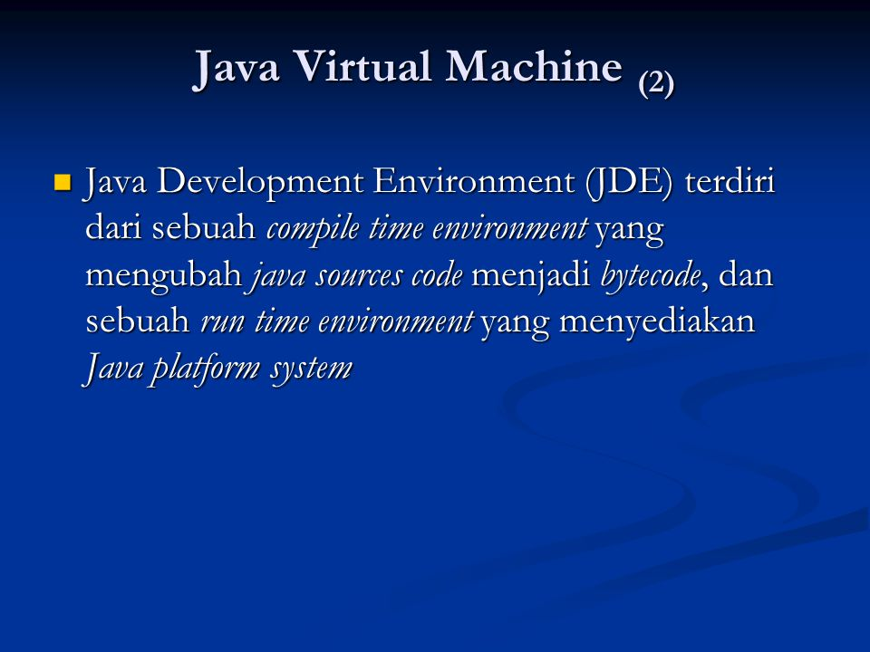 Java Virtual Machine (2)