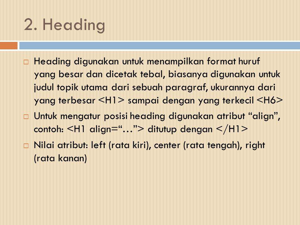 2. Heading