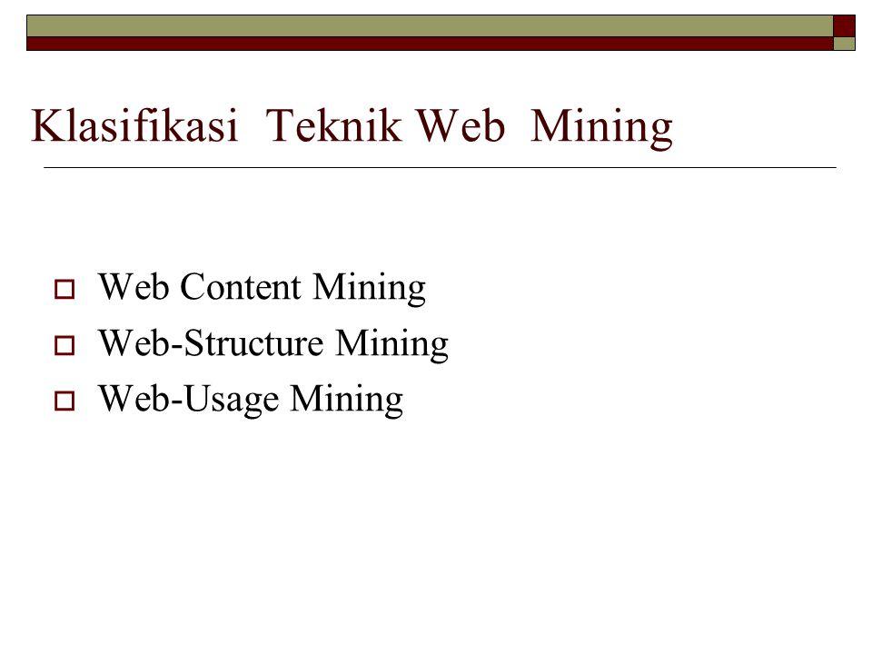 Klasifikasi Teknik Web Mining