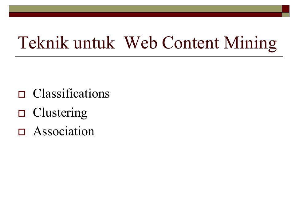 Teknik untuk Web Content Mining