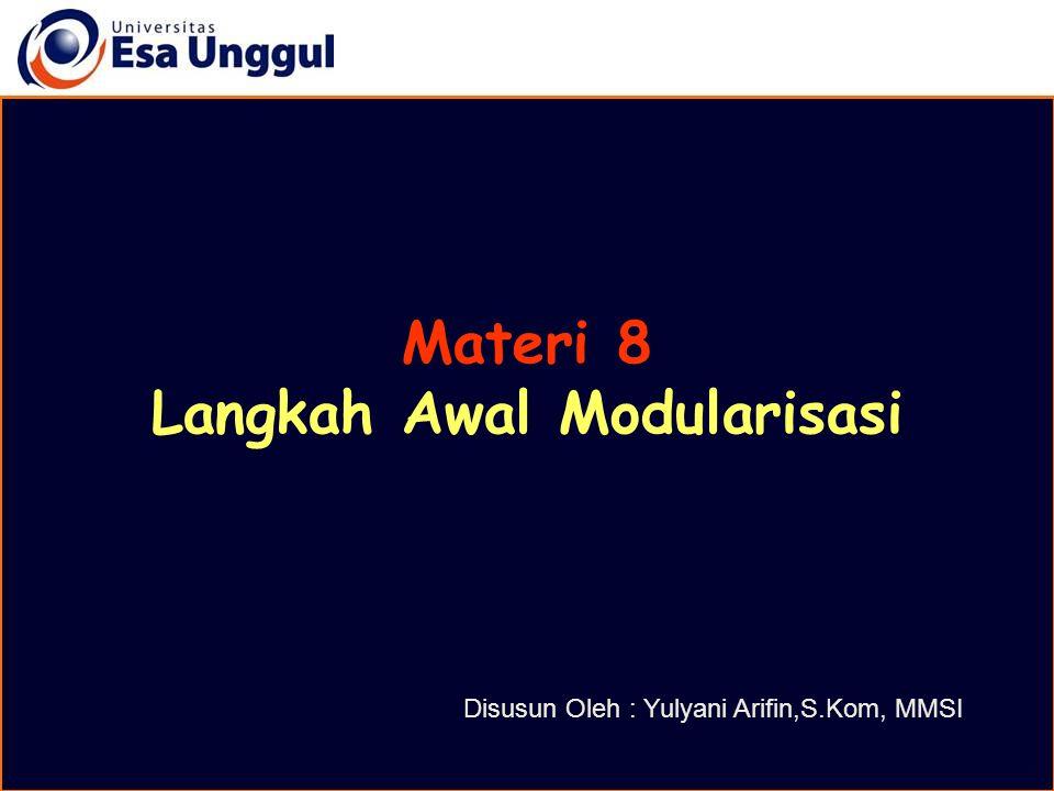 Langkah Awal Modularisasi