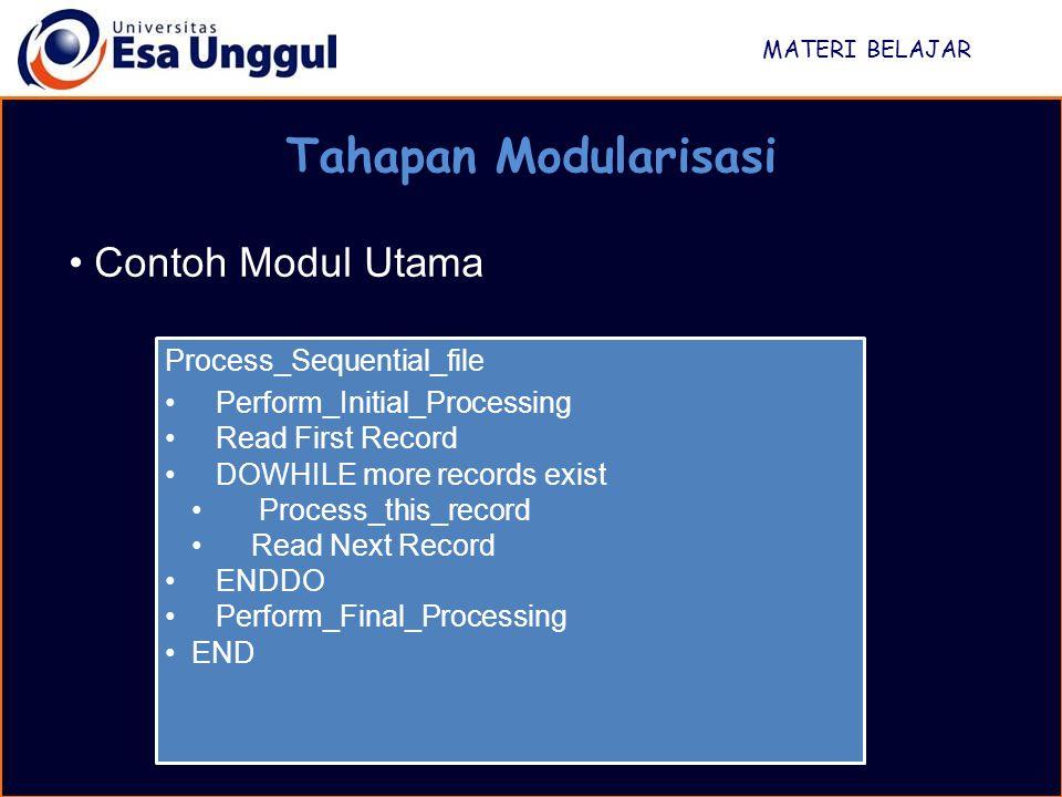 Tahapan Modularisasi Contoh Modul Utama Process_Sequential_file