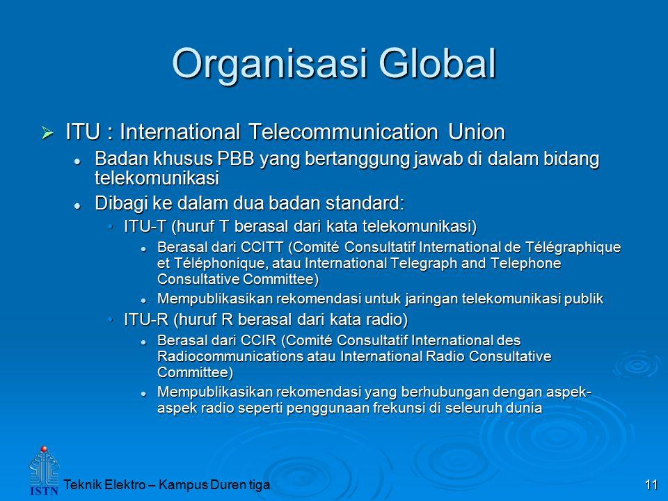 Organisasi Global ITU : International Telecommunication Union