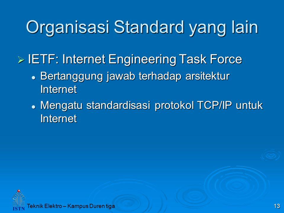 Organisasi Standard yang lain