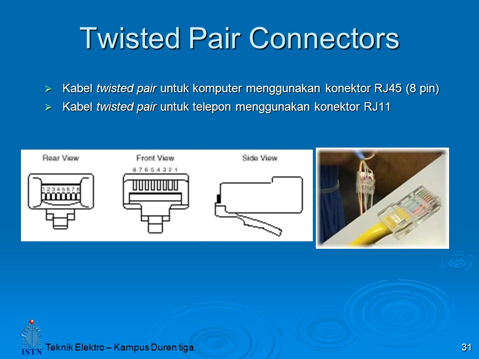 Twisted Pair Connectors