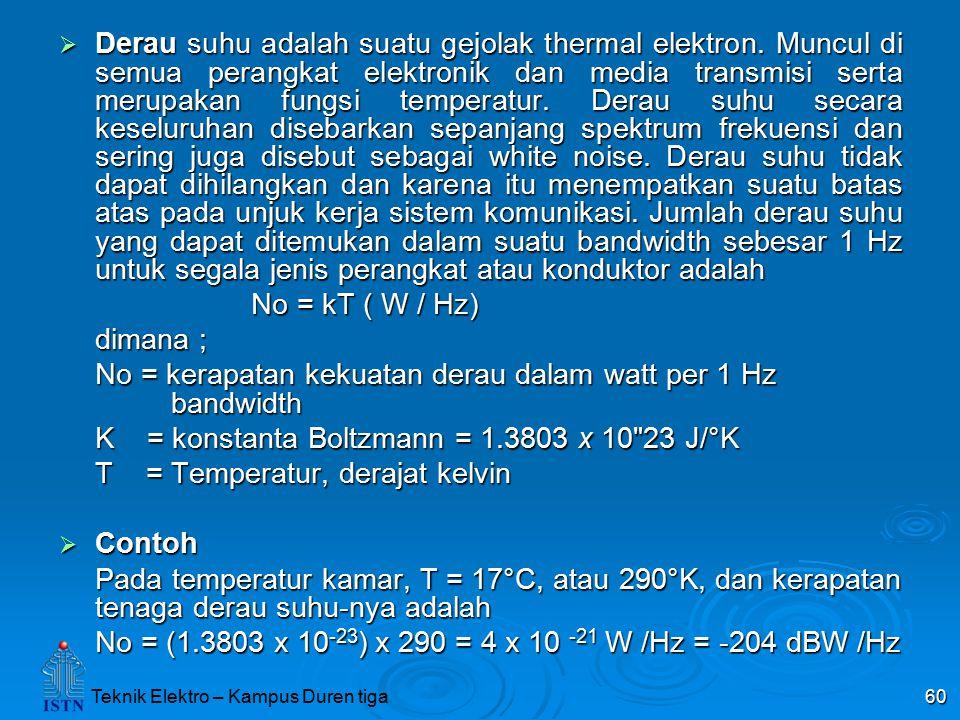Derau suhu adalah suatu gejolak thermal elektron