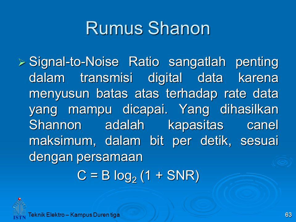 Rumus Shanon