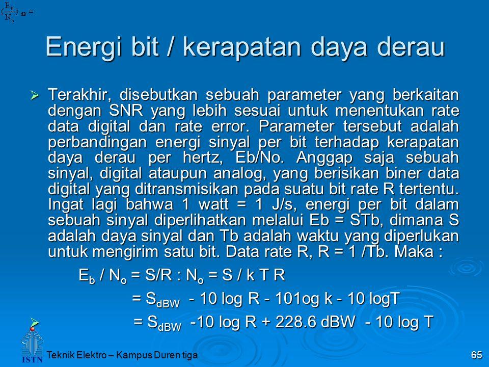 Energi bit / kerapatan daya derau