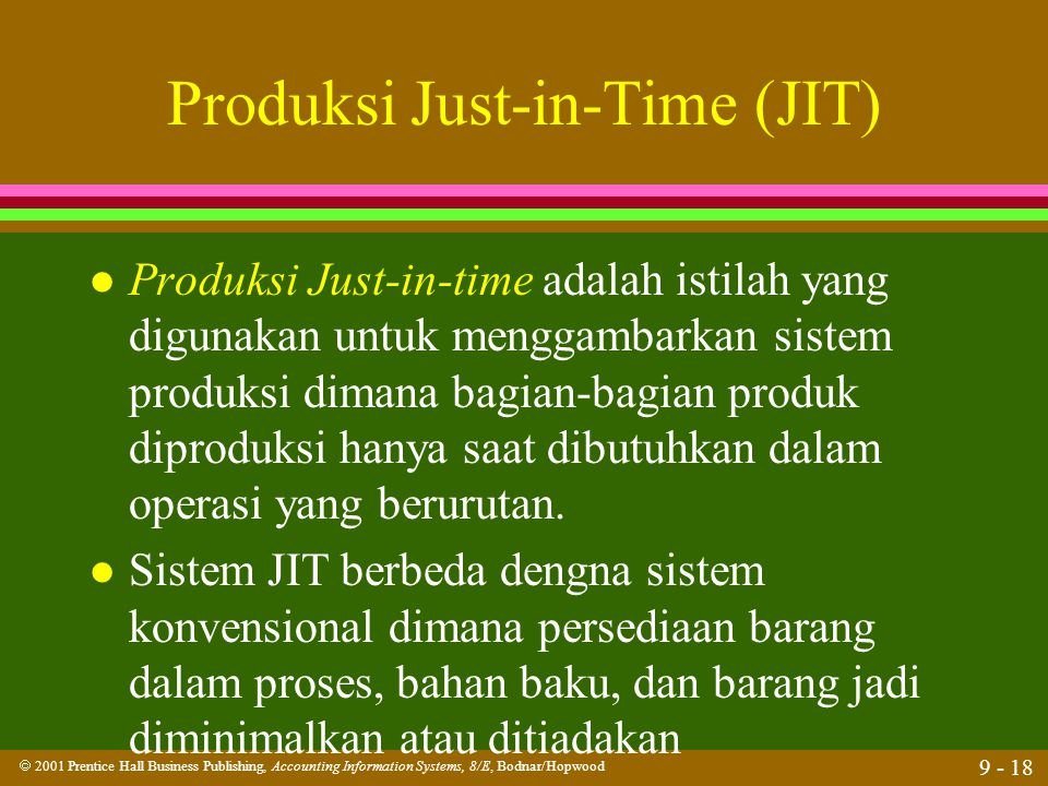 Produksi Just-in-Time (JIT)