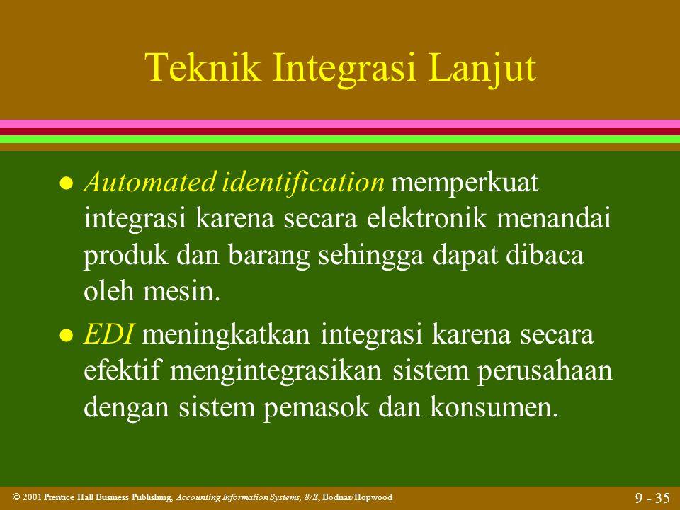 Teknik Integrasi Lanjut