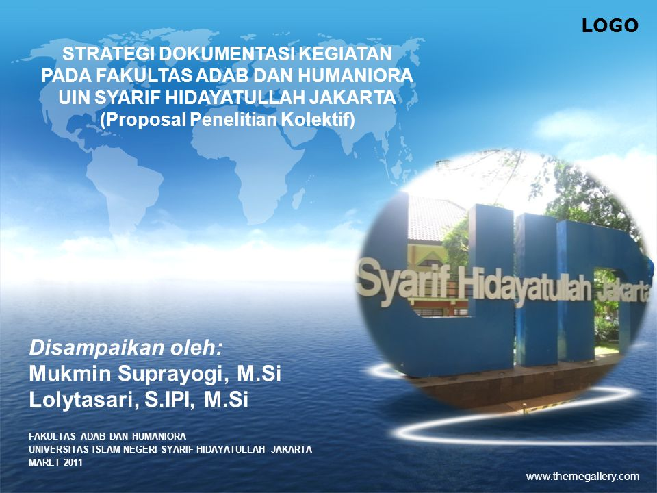 Disampaikan oleh: Mukmin Suprayogi, M.Si Lolytasari, S.IPI, M.Si