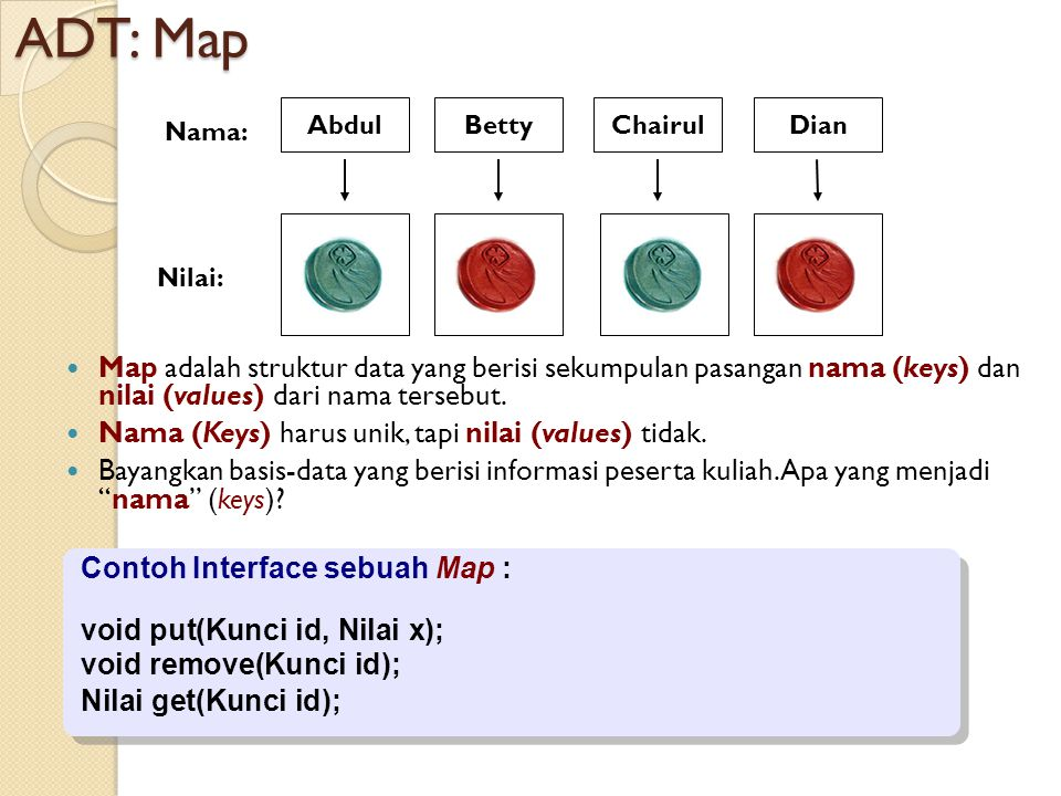 ADT: Map Abdul. Betty. Chairul. Dian. Nama: Nilai: