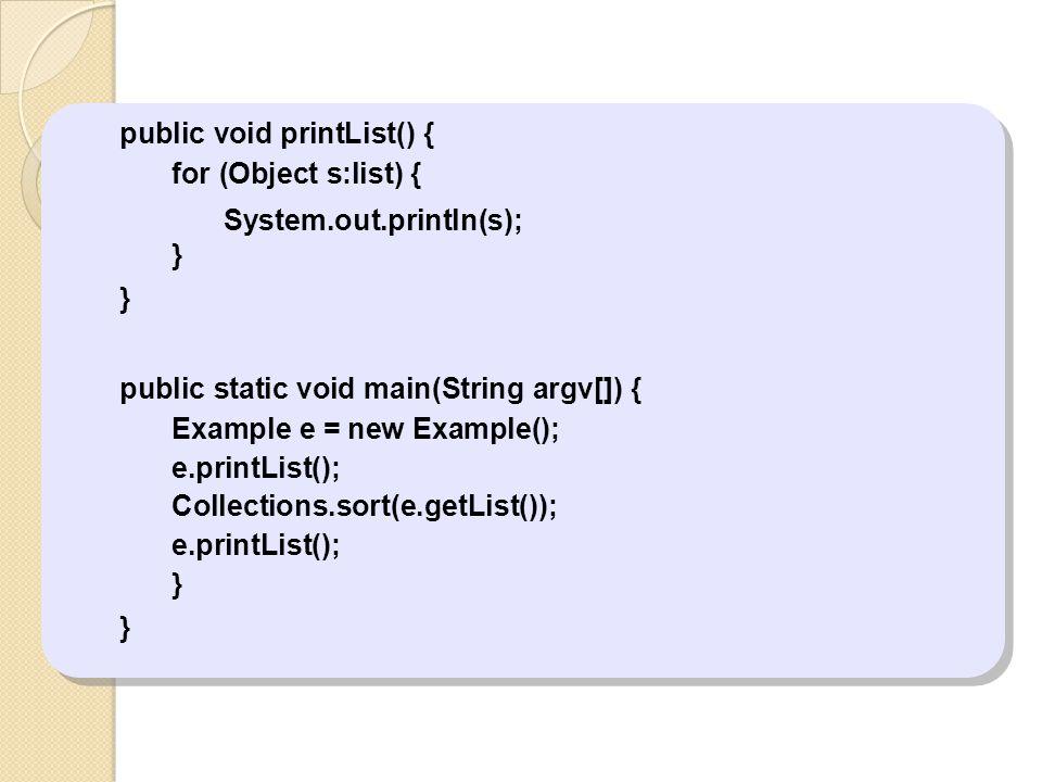 public void printList() {