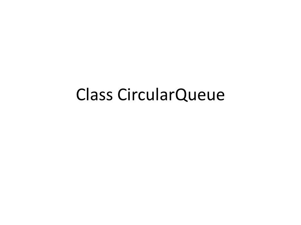 Class CircularQueue