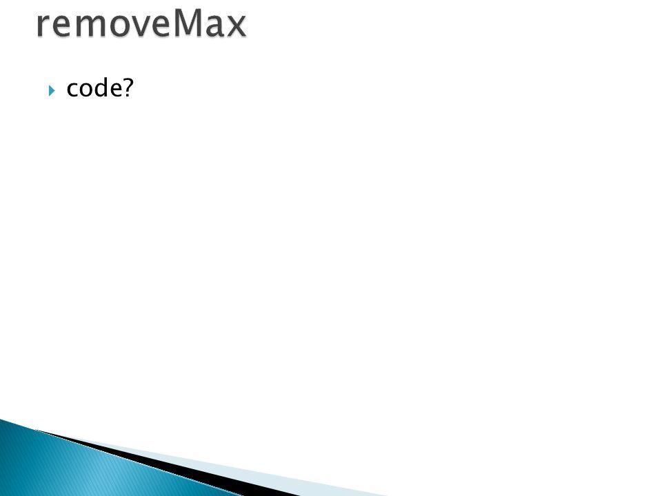 removeMax code