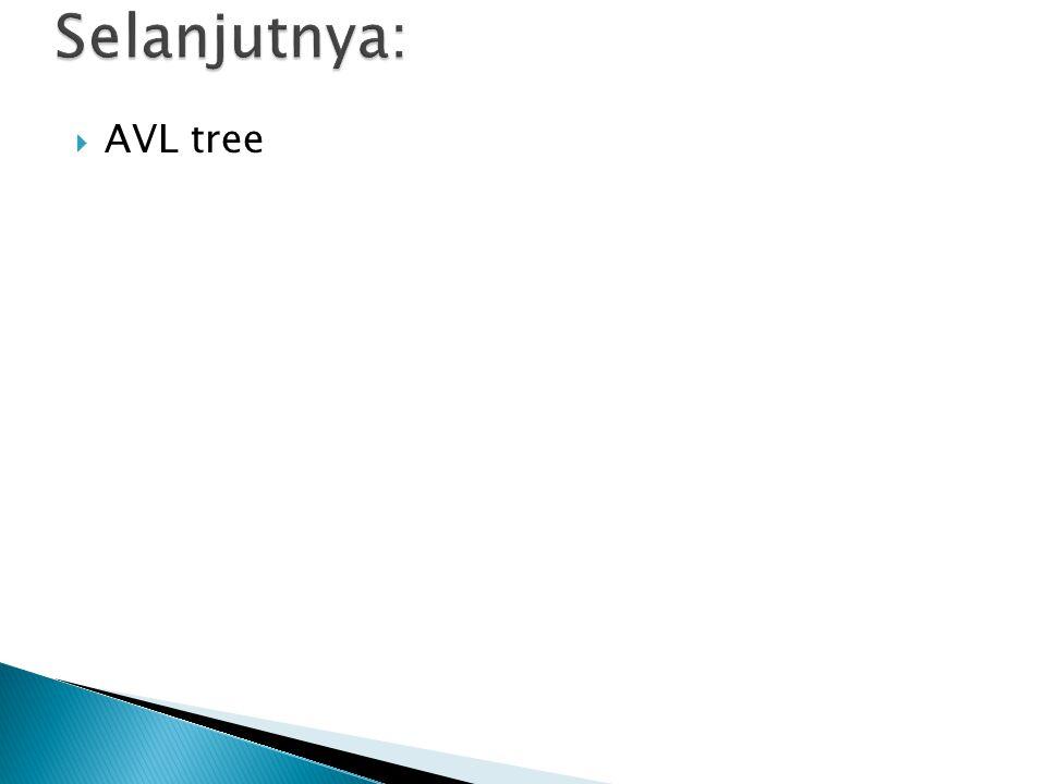 Selanjutnya: AVL tree