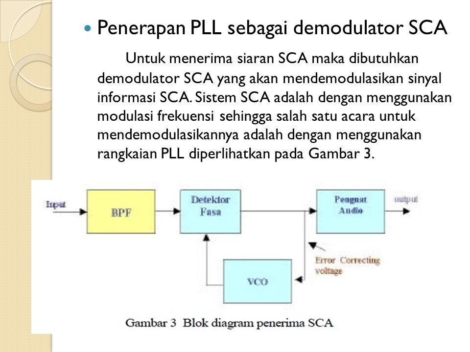 Penerapan PLL sebagai demodulator SCA