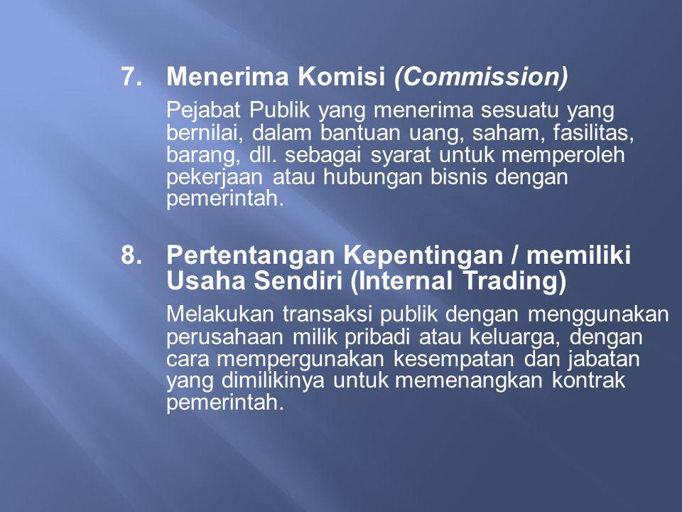 7. Menerima Komisi (Commission)
