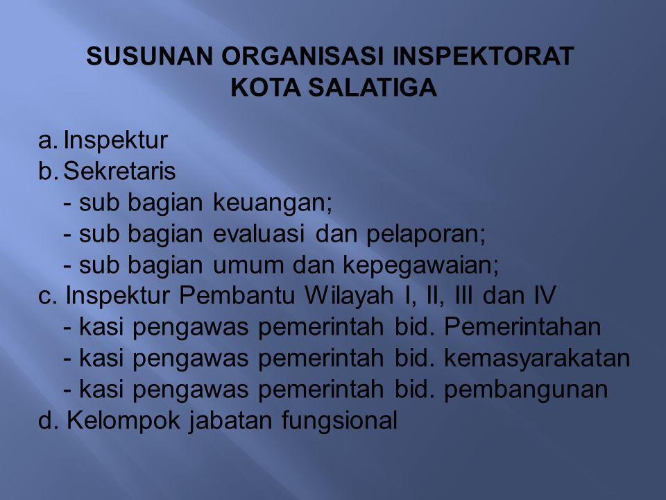 SUSUNAN ORGANISASI INSPEKTORAT