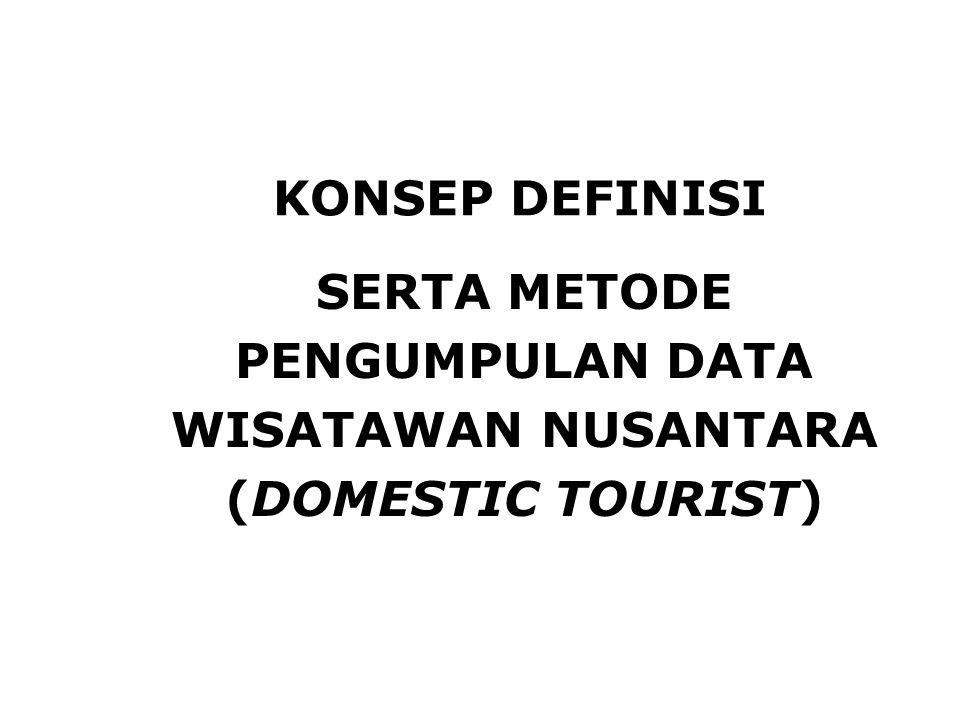 SERTA METODE PENGUMPULAN DATA WISATAWAN NUSANTARA (DOMESTIC TOURIST)