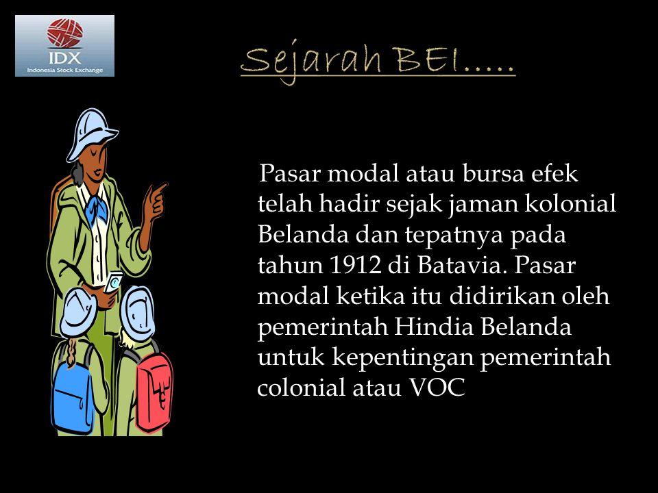 Sejarah BEI.....