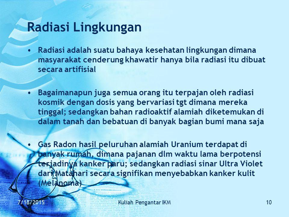 Radiasi Lingkungan