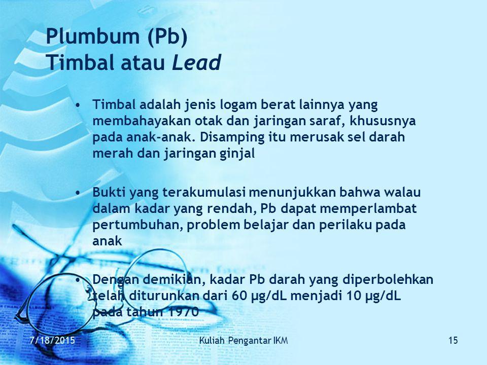 Plumbum (Pb) Timbal atau Lead