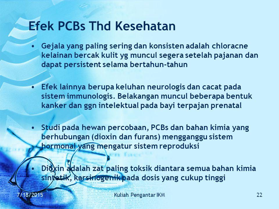 Efek PCBs Thd Kesehatan
