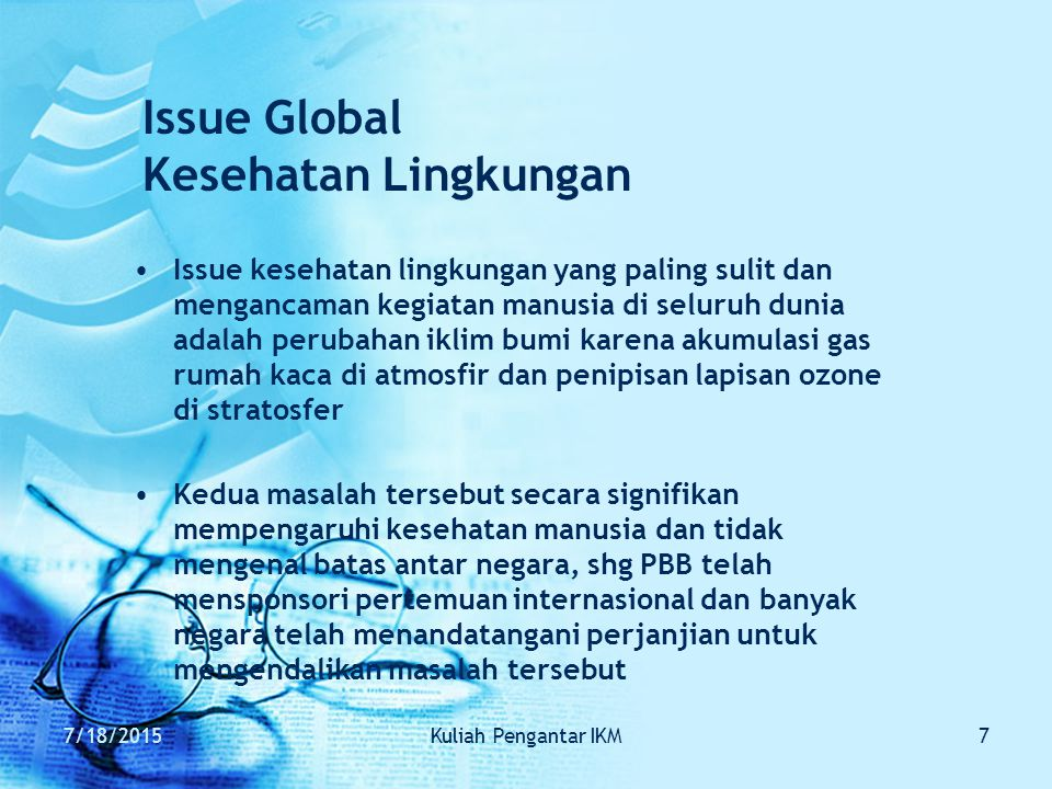 Issue Global Kesehatan Lingkungan