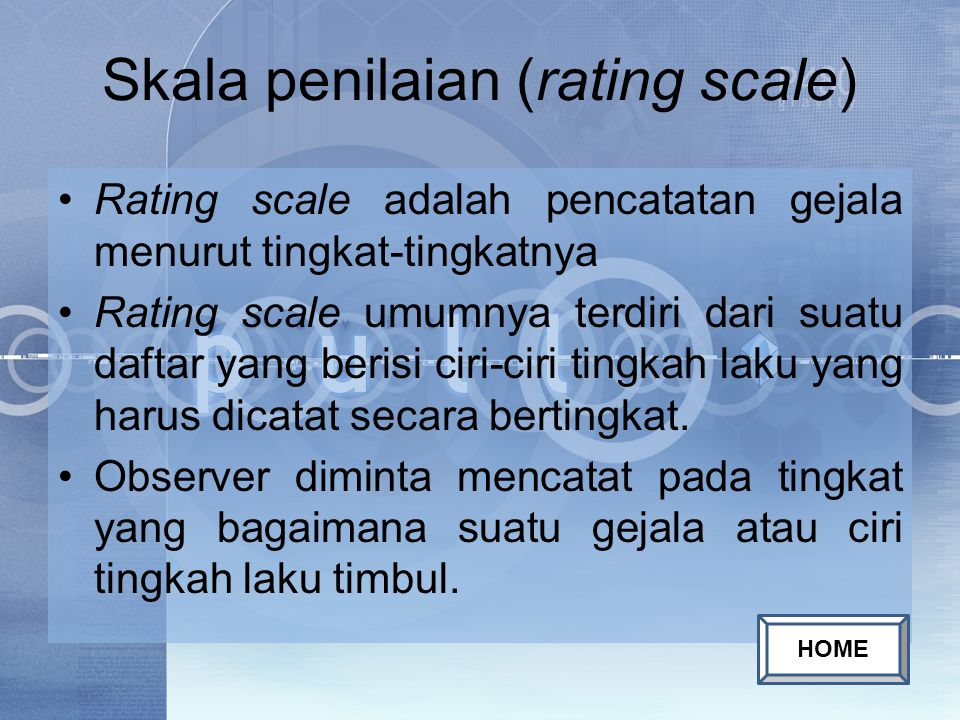 Skala penilaian (rating scale)