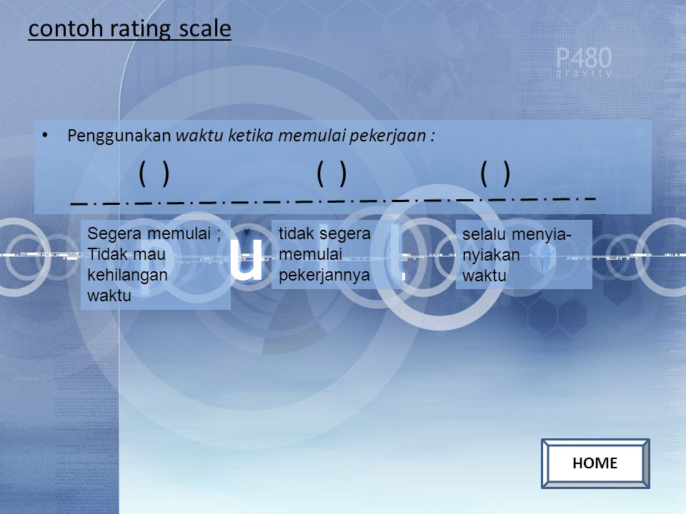 ( ) ( ) ( ) contoh rating scale
