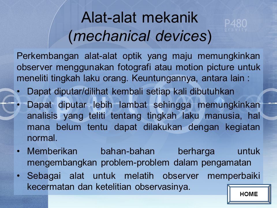Alat-alat mekanik (mechanical devices)