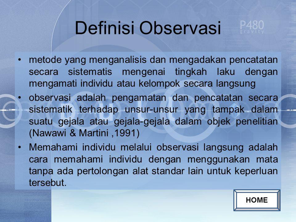 Definisi Observasi