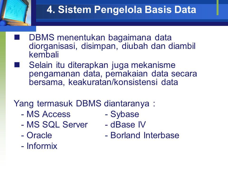 4. Sistem Pengelola Basis Data