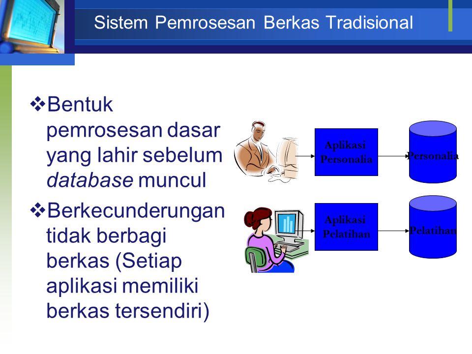 Sistem Pemrosesan Berkas Tradisional