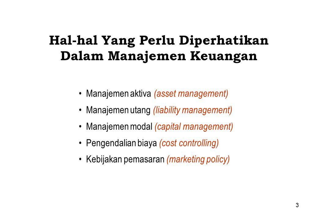 Hal-hal Yang Perlu Diperhatikan Dalam Manajemen Keuangan