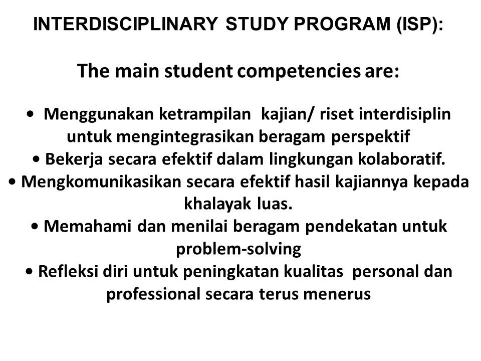 The main student competencies are:
