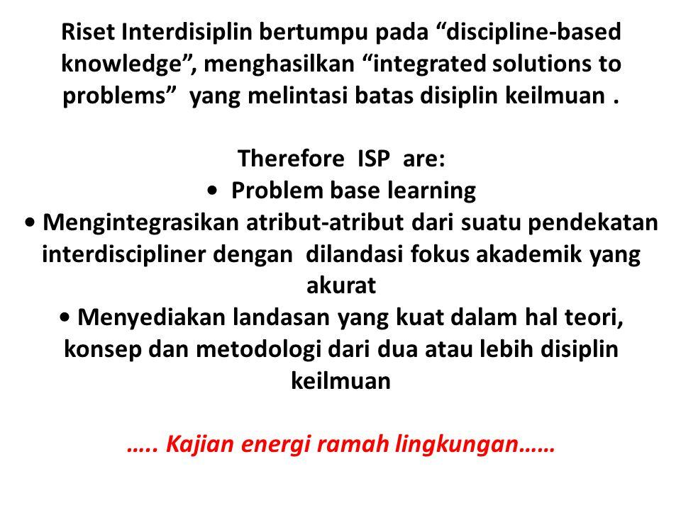 • Problem base learning ….. Kajian energi ramah lingkungan……