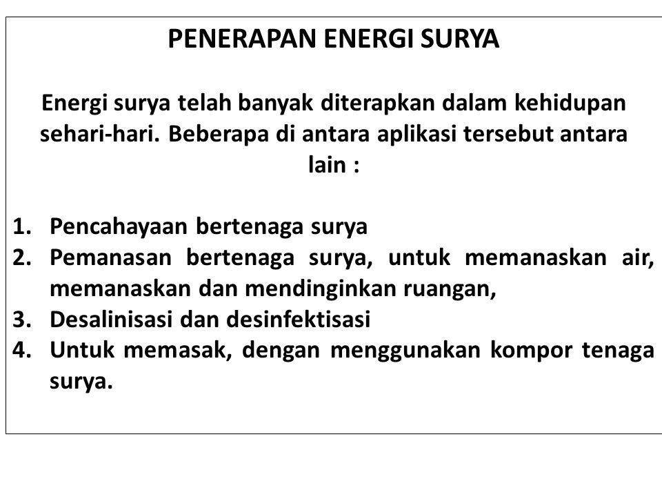 PENERAPAN ENERGI SURYA