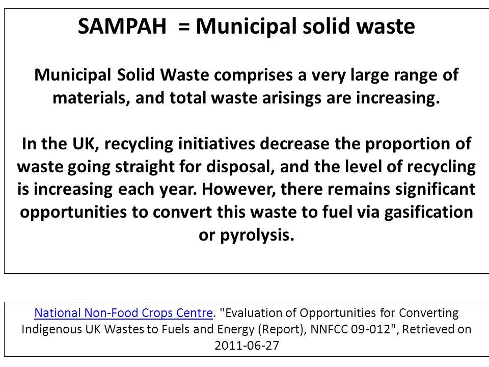 SAMPAH = Municipal solid waste