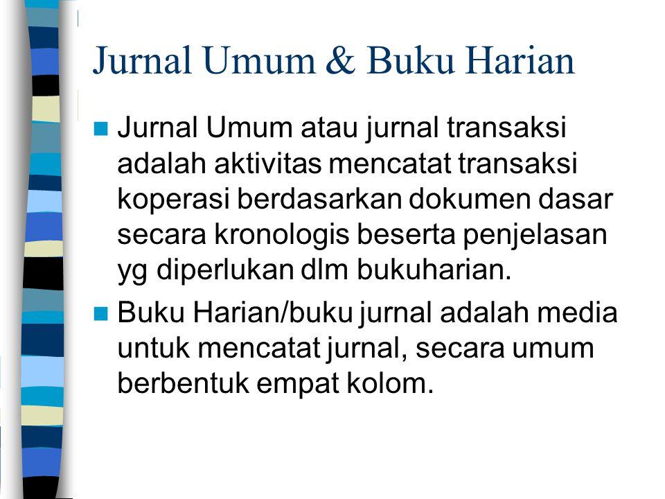 Jurnal Umum & Buku Harian