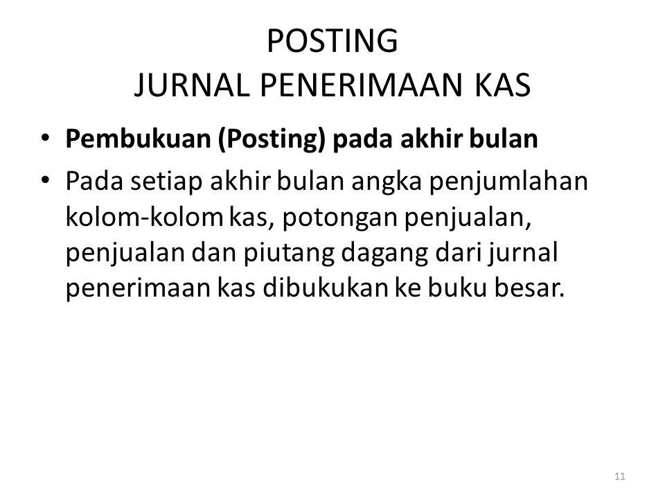 POSTING JURNAL PENERIMAAN KAS