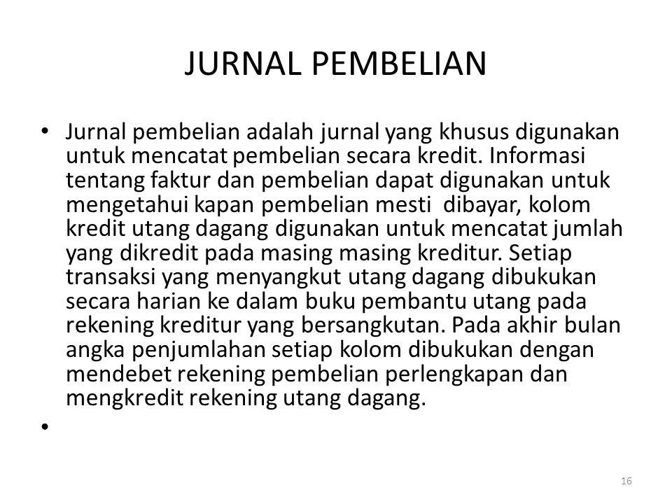 JURNAL PEMBELIAN