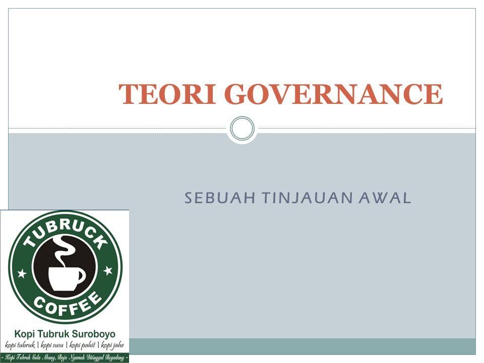 TEORI GOVERNANCE SEBUAH TINJAUAN AWAL